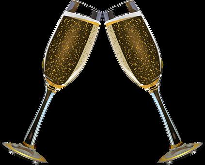 Champagne, Trinquer, Alcool, Bulle