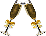 champagne, clink glasses, alcohol