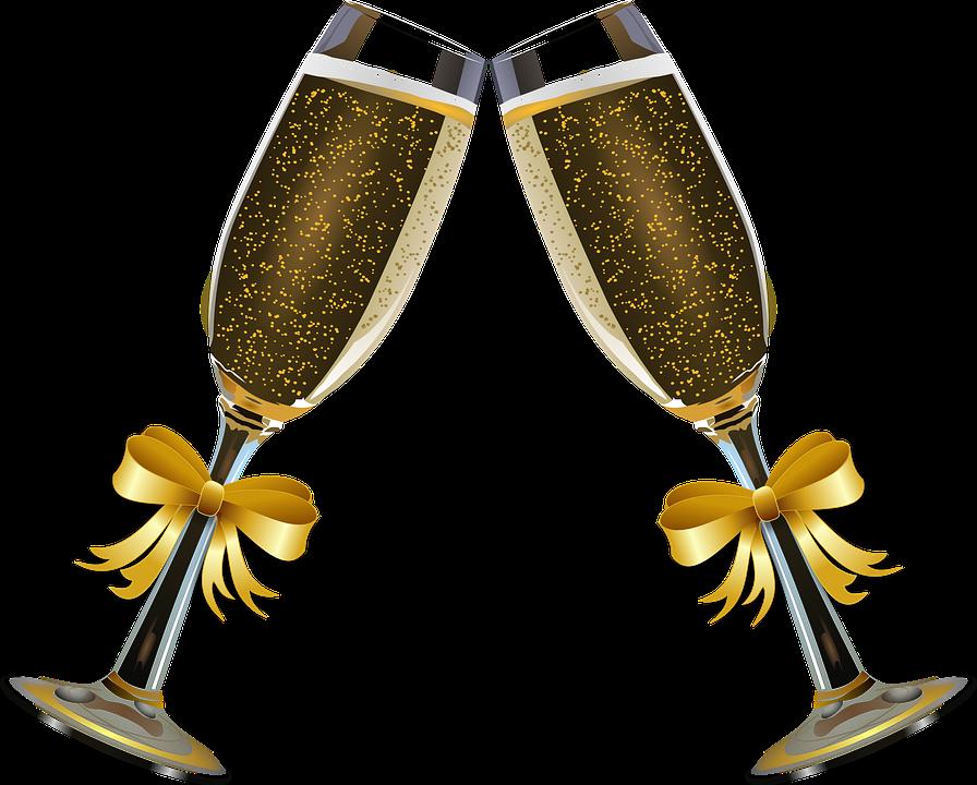 Δωρεάν διανυσματικό γραφικό: Σαμπάνια, Ηχώ Γυαλιά, Αλκοόλ ...
