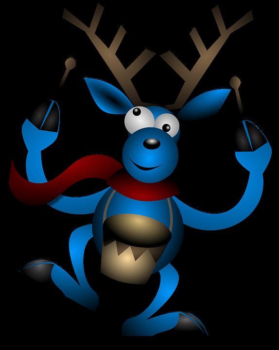dessin d'un renne qui joue du tambour