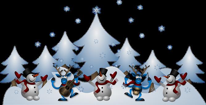 Snowmen Reindeer Christmas Noel X-Mas Xmas