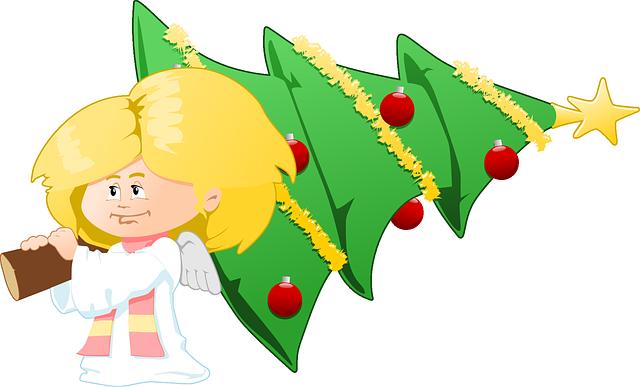 Christmas Angel Transparent Png Clip Art Image: Free Vector Graphic: Angel, Christmas, Christmas Tree