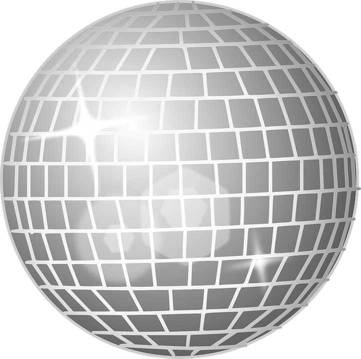 Silver Disco Ball Cake Topper