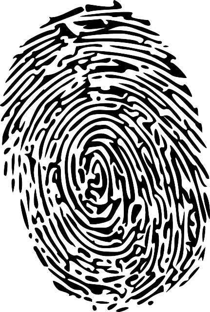 free vector graphic  fingerprint  forensics  finger