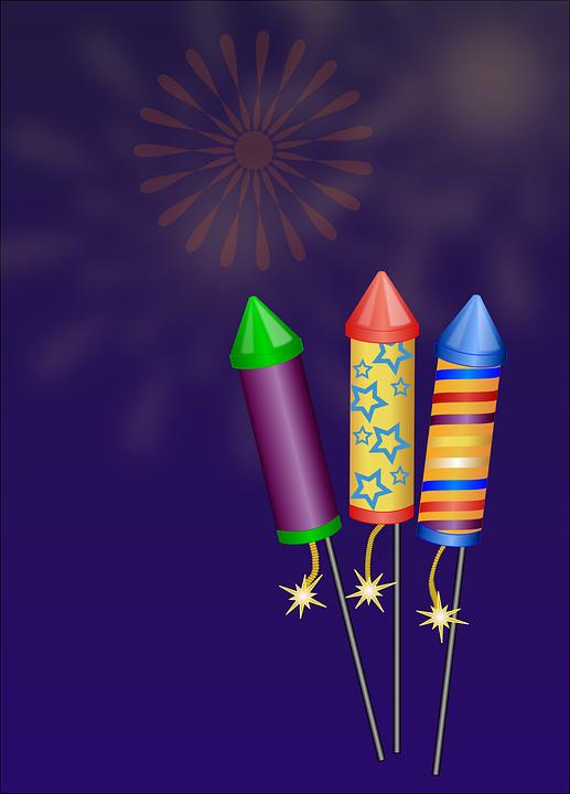 Fuegos Artificiales Cohetes Graficos Vectoriales Gratis En Pixabay