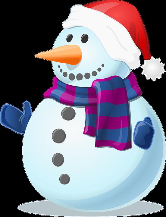 Snow, Snowman, Cold, Winter, Frozen, Gloves, Scarf