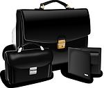 briefcase, purse, suitcase