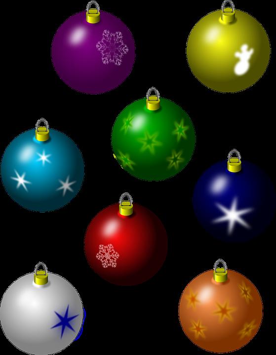 Christmas Tree Ball Colors : Free vector graphic bulbs decoration christmas balls