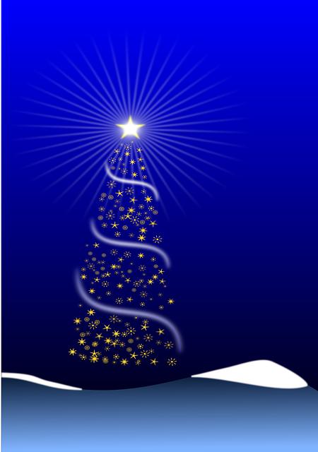 Free Vector Graphic Christmas Tree Xmas Blue Star