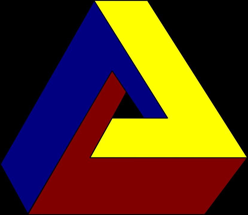 反思卡通图片_免费矢量图: 错觉, 视错觉, 三角形, 不可能 - Pixabay上的免费图片 ...