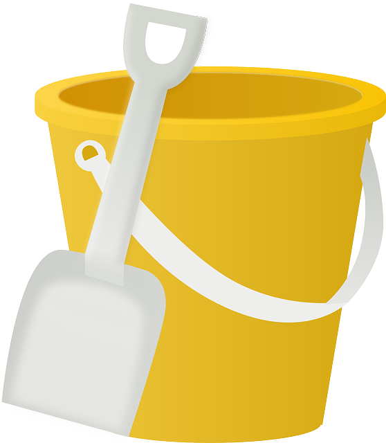 Bucket Pail Shovel · Free vector graphic on Pixabay