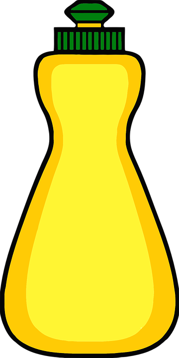 Bottle, Detergent, Dish, Kitchen, Liquid, Yellow, Lemon