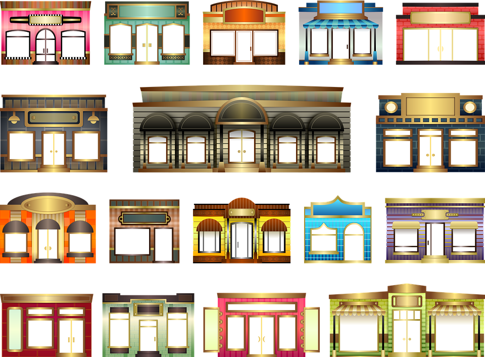 door shop store window facade building house  sc 1 st  Pixabay & Door Shop Store · Free vector graphic on Pixabay