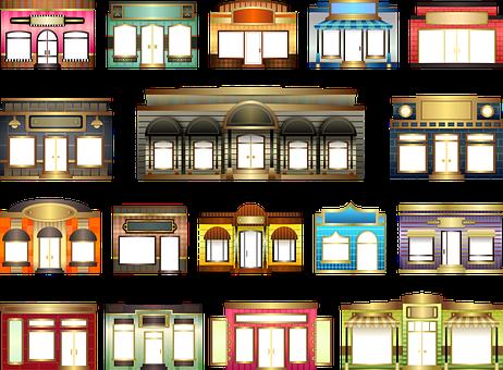 Door, Shop, Store, Window, Facade