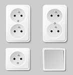 electric, sockets, power