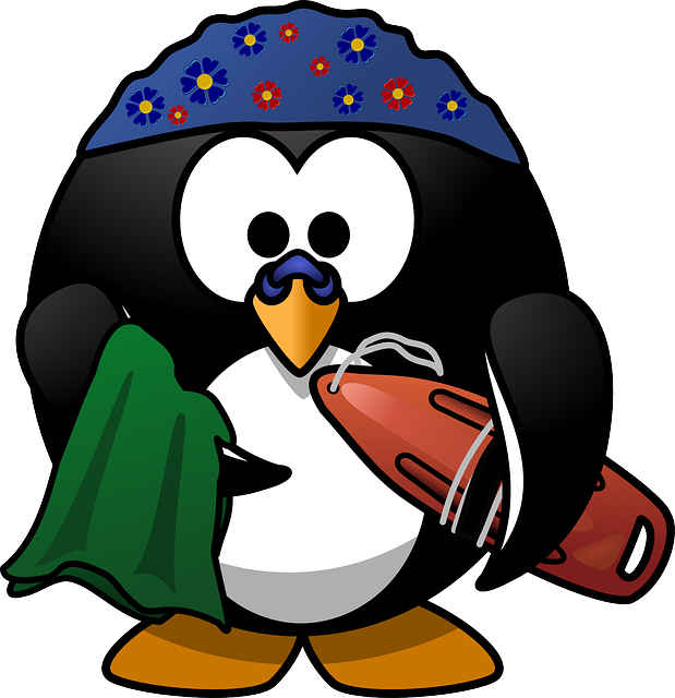 Free Vector Graphic Linux Tux Activity Beach Buoy