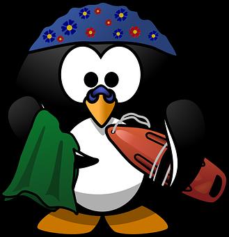 Linux, Tux, Aktivität, Strand, Boje