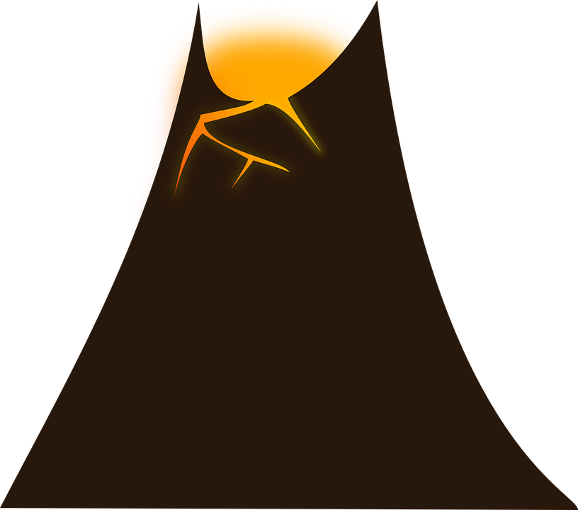 Volcano hot fire free vector graphic on pixabay for Free clipart animations