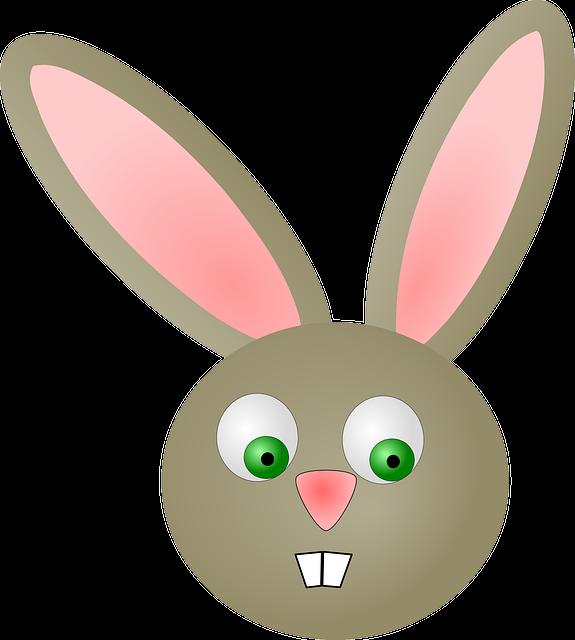 Gambar vektor  gratis Paskah Kelinci  Kepala Wajah
