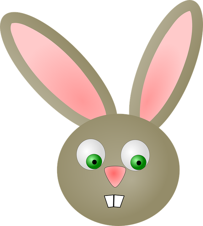 free vector graphic easter rabbit head face mammal   free image