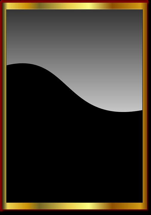 black and gold frame png. Delighful Png Frame Mirror Black Elegant Golden Throughout Black And Gold Frame Png