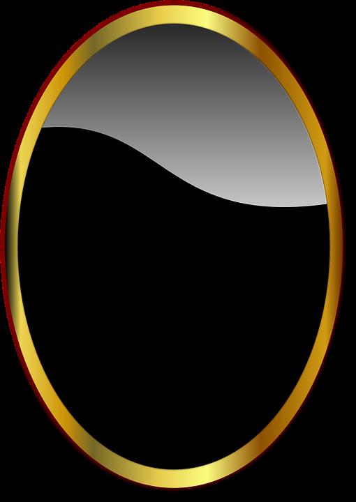 black and gold frame png. Frame Mirror Black Elegant Golden And Gold Png E