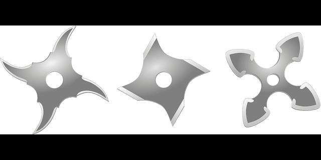Ninja star weapon free vector graphic on pixabay - Shuriken dessin ...