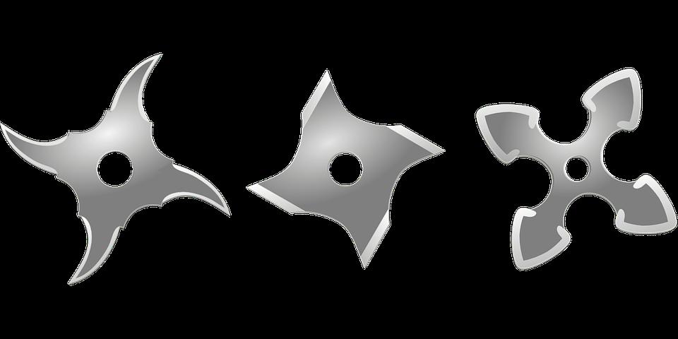 Ninja Star Weapon Metal Arms Sharp