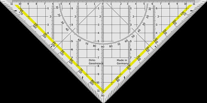 Triangle, Dirigeant, Angle, Centimètres