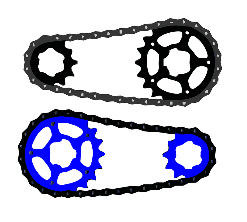 bicycle chain free vector graphic on pixabay rh pixabay com bike chain vector free download bike chain link vector