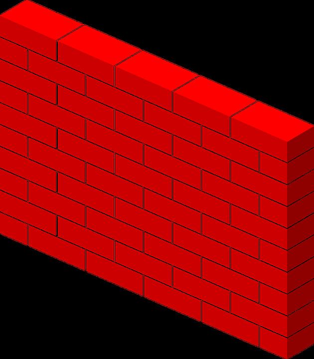 Brick Wall Clip Art: Free Vector Graphic: Bricks, Wall, Red