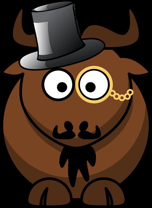 Free vector graphic: Gnu, Animal, Cute, Funny, Mammal ...