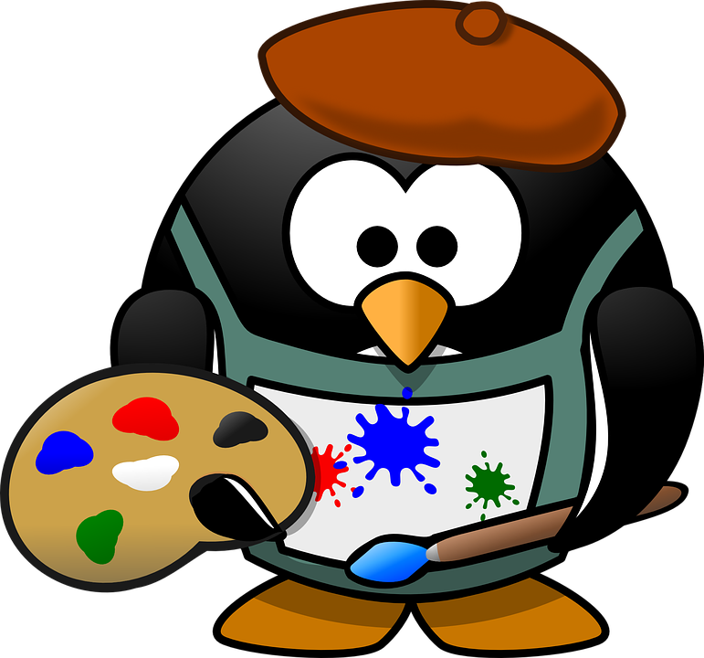 painter tux art free vector graphic on pixabay rh pixabay com free makeup artist clipart artist royalty free clipart