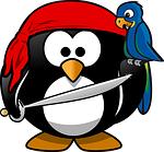 penguin, pirate, tux