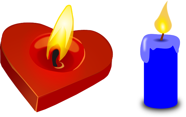 Birthday Candles Transparent Png Clip Art Image: Free Vector Graphic: Candle, Heart, Valentine, Red