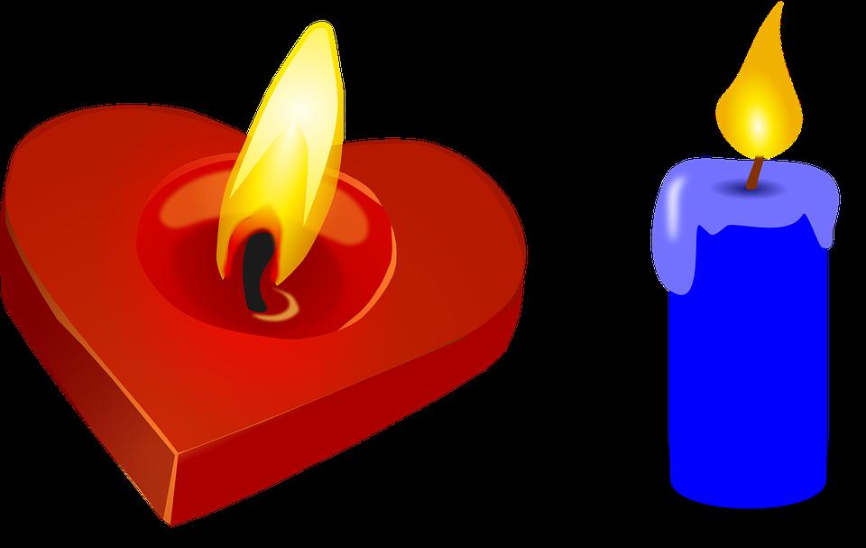 Très Image vectorielle gratuite: Bougie, Coeur, Saint Valentin, Red  PJ11