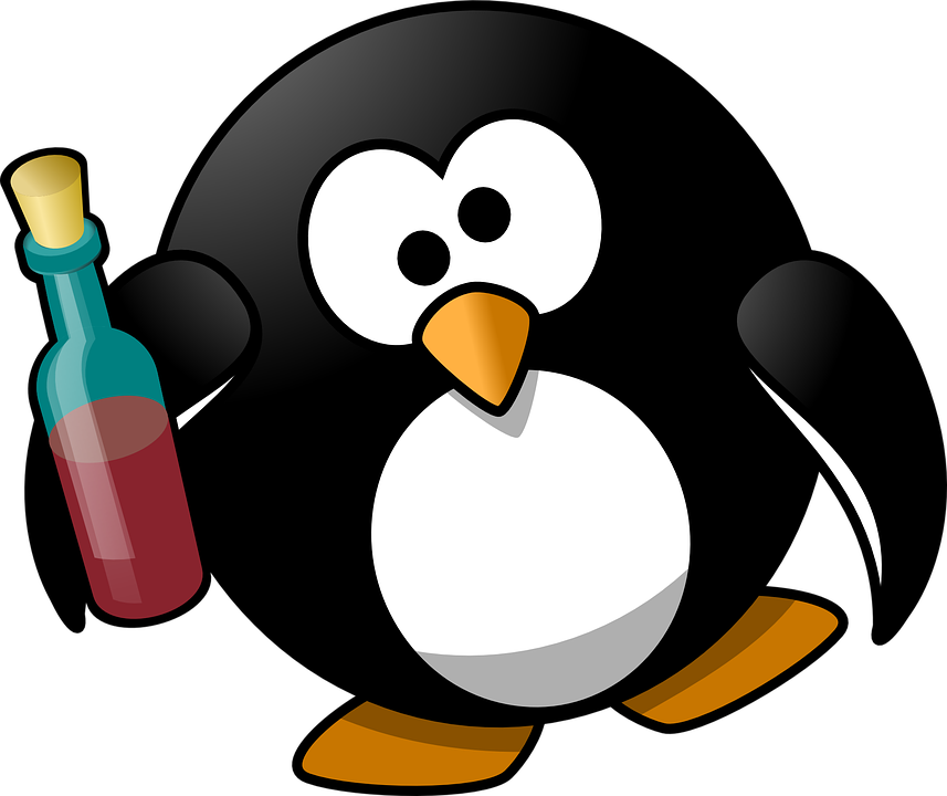 Pixabay Tux Graphic Vector Free On - Alcohol Alcoholic