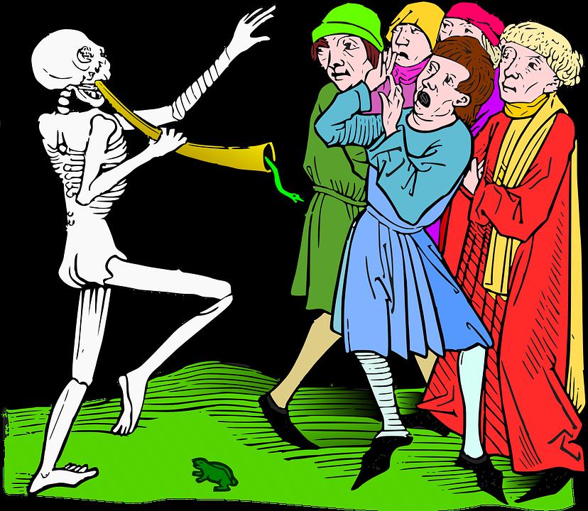 Taniec, Śmierć, Makabryczny, Dżuma, Ludzie, Choroby