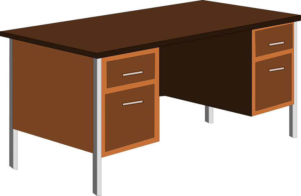Desk Office Table Cupboard Furniture