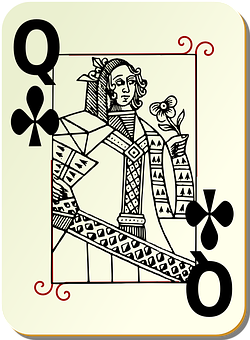 Playing Card, Queen, Clubs, Card Deck