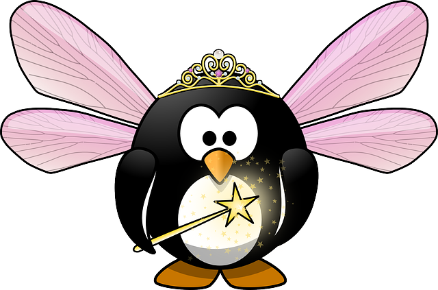 free vector graphic tux animal bird cute crown elf