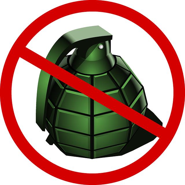 free vector graphic  grenade  deny  war  peace