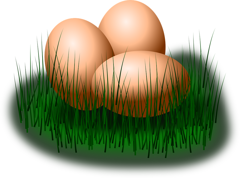 Free Vector Graphic Easter Eggs Grass