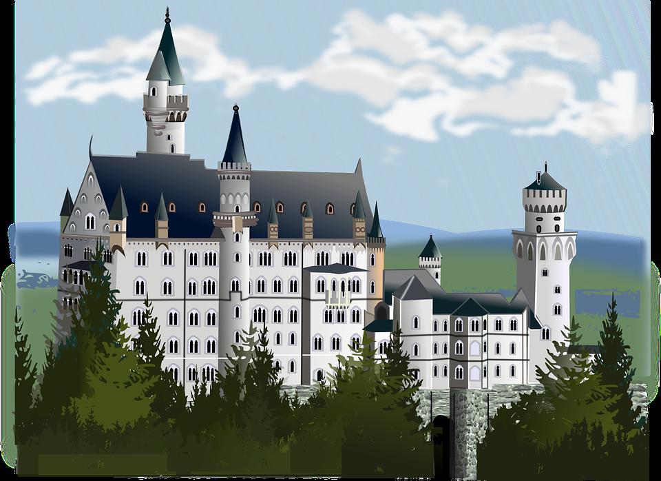 Neuschwanstein Castle illustration