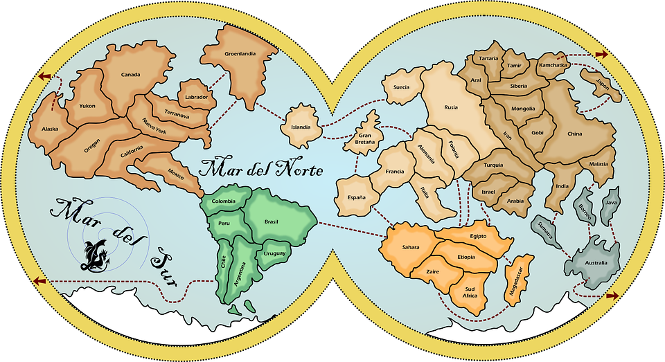 Map earth continents free vector graphic on pixabay map earth continents countries oceans navigation gumiabroncs Gallery