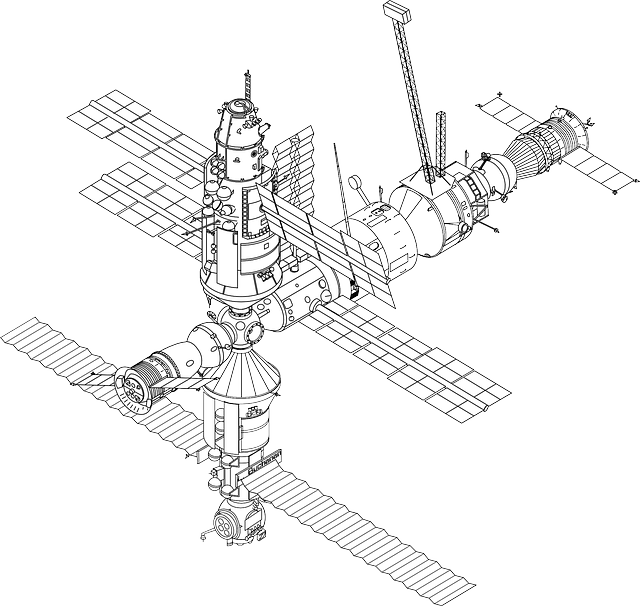 Free Vector Graphic Space Station Iss Free Image On