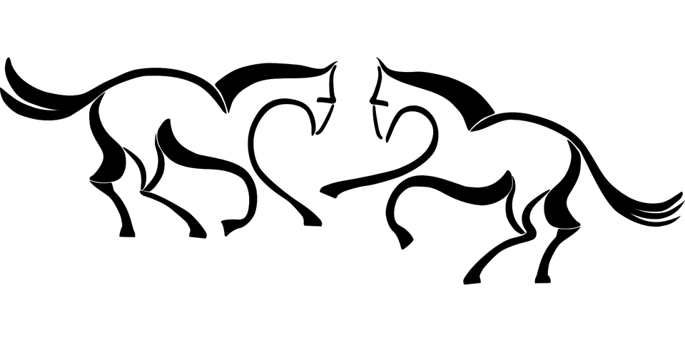 Kostenlose vektorgrafik pferde stilisiert tier for Immagini cavalli stilizzati