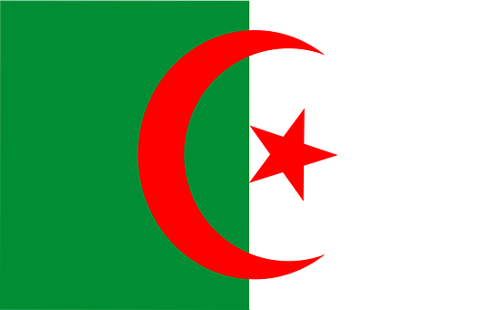 Algeria, Flag, Africa, Arabic, Nation