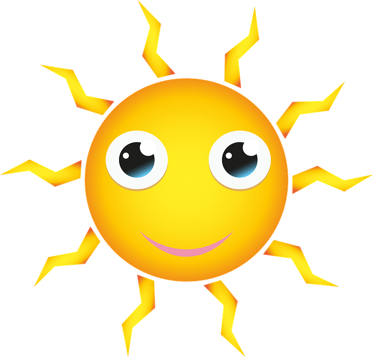 Free vector graphic: Sun, Yellow, Shining, Happy, Face ...