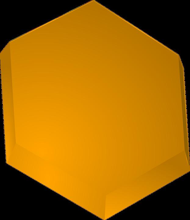 Beeswax Hexagon Honey Yellow
